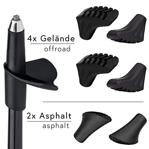 Carbon Ultra Light Walking Stock mit Handgelenkschlaufe verschiedene Längen Superleicht Premium GRATIS – Nordic Walking/Fitness App (110 cm) - 4
