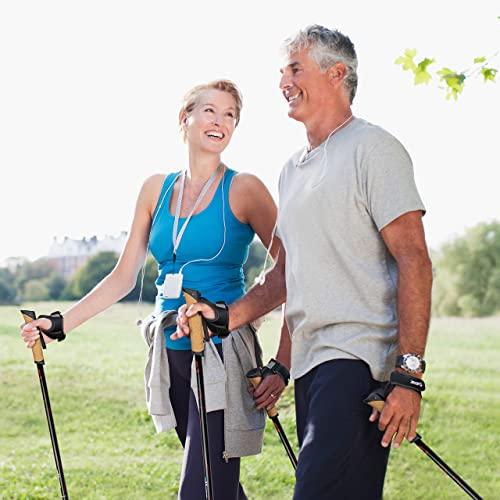 Carbon Ultra Light Walking Stock mit Handgelenkschlaufe verschiedene Längen Superleicht Premium GRATIS – Nordic Walking/Fitness App (110 cm) - 7