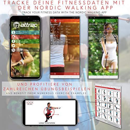 Trekking Stöcke Climber Wanderstöcke Teleskop 67 – 136 cm GRATIS – Nordic Walking/Fitness App - 2