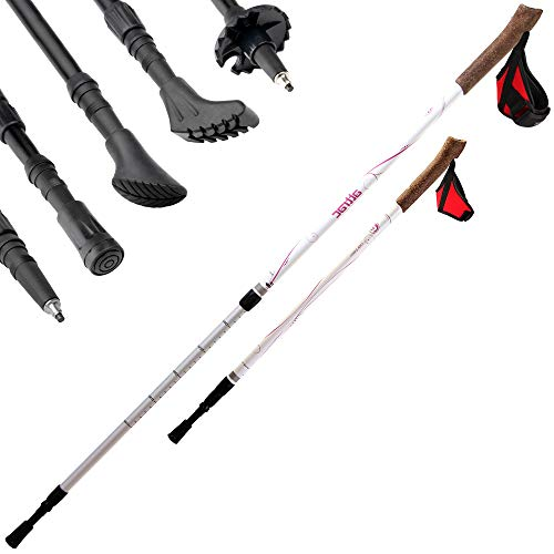 Nordic Walking Lady Edition Teleskop Stöcke Walking Sticks Wander Trekking + APP