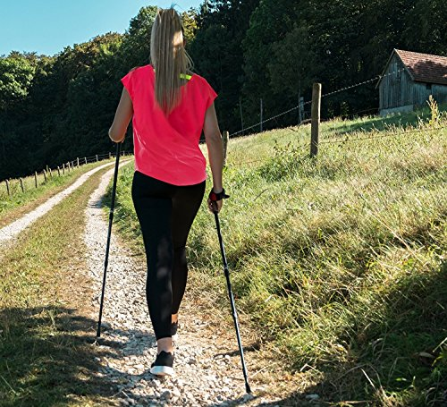 Nordic Walking Lady Edition Teleskop Stöcke Walking Sticks Wander Trekking + APP - 9