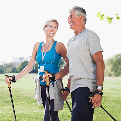 Carbon Ultra Light Walking Stock mit Handgelenkschlaufe verschiedene Längen Superleicht Premium GRATIS – Nordic Walking/Fitness App (120 cm) - 7
