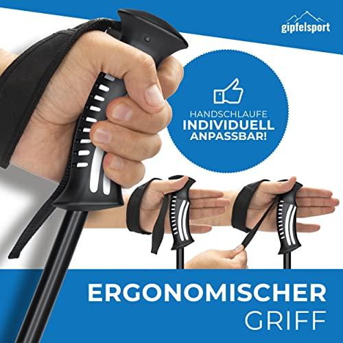 Nordic Walking Stöcke von gipfelsport – ein Paar Wanderstöcke mit Tasche I Trekkingstöcke für Damen und Herren, verstellbar | Teleskop Stöcke mit Aufsätzen, Gummipuffer I + Gratis eBook - 4
