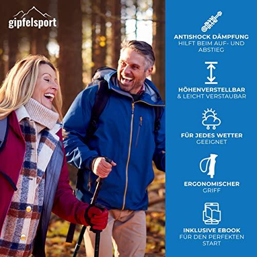 Nordic Walking Stöcke von gipfelsport – ein Paar Wanderstöcke mit Tasche I Trekkingstöcke für Damen und Herren, verstellbar | Teleskop Stöcke mit Aufsätzen, Gummipuffer I + Gratis eBook - 7