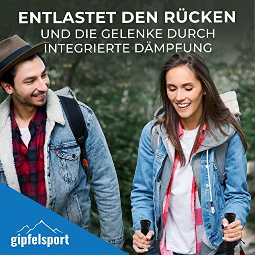 Nordic Walking Stöcke von gipfelsport – ein Paar Wanderstöcke mit Tasche I Trekkingstöcke für Damen und Herren, verstellbar | Teleskop Stöcke mit Aufsätzen, Gummipuffer I + Gratis eBook - 8