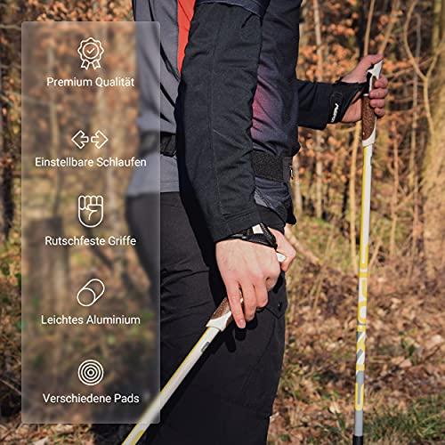 Msports Nordic Walking Stöcke Premium White – hochwertige Qualität – Superleicht – auswählbar mit Tragetasche – Walking Sticks (Nordic Walking Stöcke) - 7