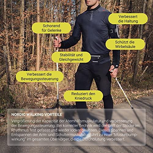 Msports Nordic Walking Stöcke Premium White – hochwertige Qualität – Superleicht – auswählbar mit Tragetasche – Walking Sticks (Nordic Walking Stöcke) - 6