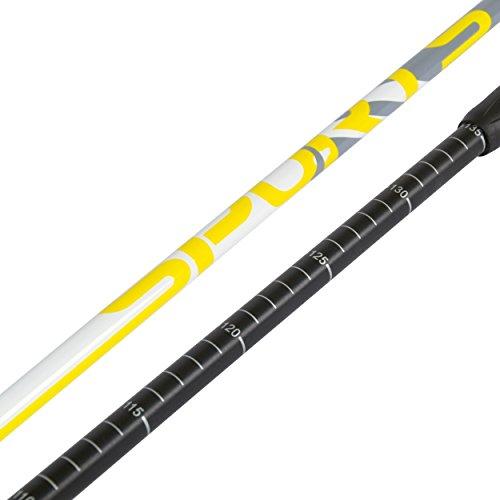 Msports Nordic Walking Stöcke Premium White – hochwertige Qualität – Superleicht – auswählbar mit Tragetasche – Walking Sticks (Nordic Walking Stöcke) - 4