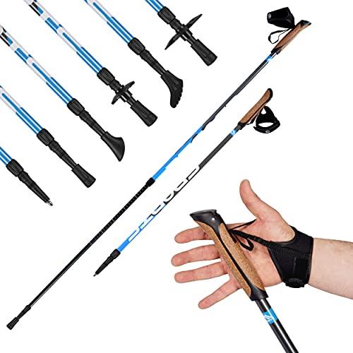 Msports Nordic Walking Stöcke Premium - hochwertige Qualität - Superleicht - auswählbar mit Tragetasche - Walking Sticks (Nordic Walking Stöcke)