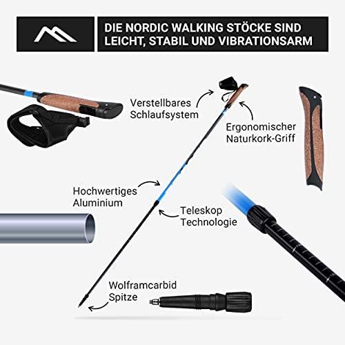 Msports Nordic Walking Stöcke Premium – hochwertige Qualität – Superleicht – auswählbar mit Tragetasche – Walking Sticks (Nordic Walking Stöcke) - 5