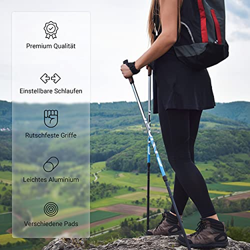 Msports Nordic Walking Stöcke Premium – hochwertige Qualität – Superleicht – auswählbar mit Tragetasche – Walking Sticks (Nordic Walking Stöcke) - 3