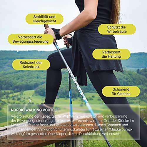 Msports Nordic Walking Stöcke Premium – hochwertige Qualität – Superleicht – auswählbar mit Tragetasche – Walking Sticks (Nordic Walking Stöcke) - 6