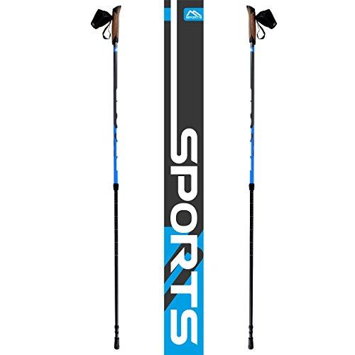 Msports Nordic Walking Stöcke Premium – hochwertige Qualität – Superleicht – auswählbar mit Tragetasche – Walking Sticks (Nordic Walking Stöcke) - 7
