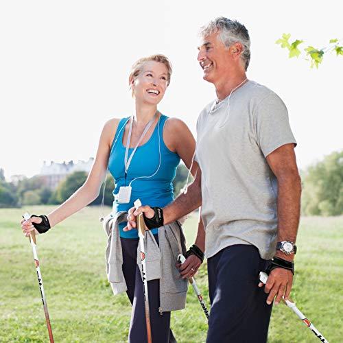 Nordic Walking Stöcke Aluminium mit Handgelenkschlaufen | GRATIS – Nordic Walking/Fitness App (120) - 5