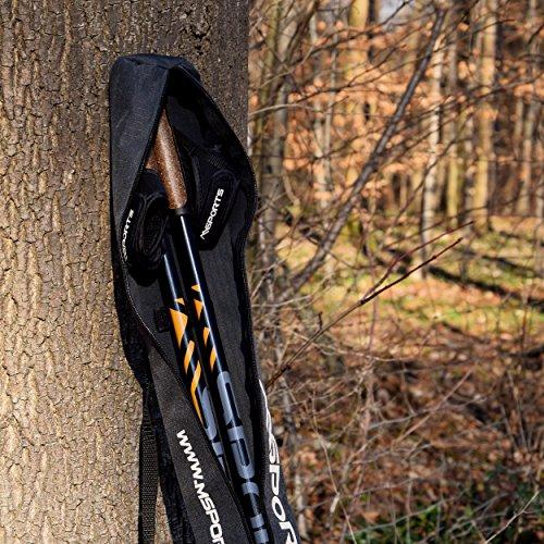 Msports Nordic Walking Stöcke Carbon Premium – aus hochwertigem Carbon – Superleicht – individuell einstellbar – auswählbar mit Tragetasche – Walking Sticks (Nordic Walking Stöcke Carbon) - 8