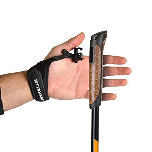Msports Nordic Walking Stöcke Carbon Premium – aus hochwertigem Carbon – Superleicht – individuell einstellbar – auswählbar mit Tragetasche – Walking Sticks (Nordic Walking Stöcke Carbon) - 5