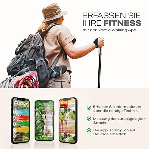 ATTRAC Nordic Walking Stöcke Classic CLICK & GO I Wanderstöcke Teleskop verstellbar & super leicht mit Anti-Schock Dämpfung I Inkl. Workout und Sport App I Auswählbar mit Tasche (Click & Go) - 5