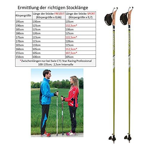 Swix CT4 Nordic Walking Stock Lime Composite Premium mit Twist & Go Spitze 1 Paar - 2