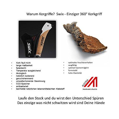 Swix CT4 Nordic Walking Stock Lime Composite Premium mit Twist & Go Spitze 1 Paar - 3