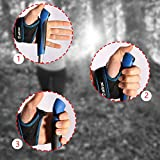 ATTRAC Nordic Walking/Trekking Stöcke Faltbar Verstellbar 37-130 cm mit CLICK & GO System Superleicht inkl. Fitness App - 4