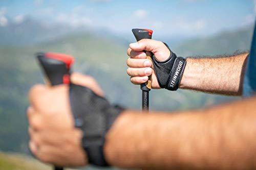 Steinwood Premium 100% Carbon Nordic Walking Stöcke verstellbar mit Teleskop und Klemmverschluss mit extra Gummipuffer und Tragebeutel - 3