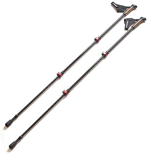 Steinwood Premium 100% Carbon Nordic Walking Stöcke verstellbar mit Teleskop und Klemmverschluss mit extra Gummipuffer und Tragebeutel - 8