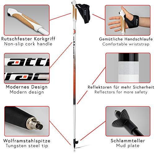 Nordic Walking Stöcke Aluminium mit Handgelenkschlaufen | GRATIS – Nordic Walking/Fitness App (110) - 6