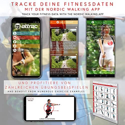 Carbon Ultra Light Walking Stock mit Handgelenkschlaufe verschiedene Längen Superleicht Premium GRATIS – Nordic Walking/Fitness App (115 cm) - 4