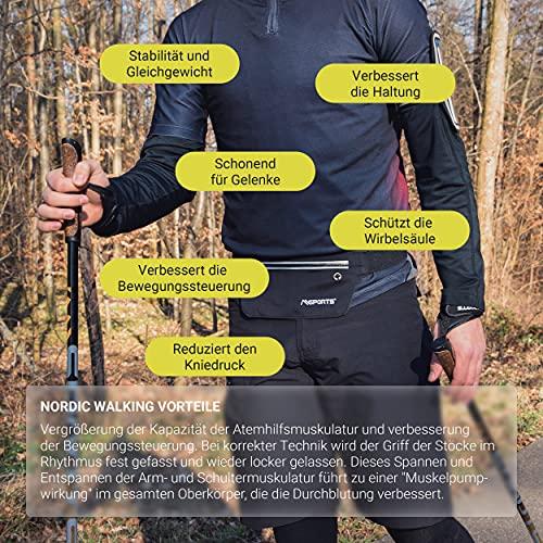 Msports Nordic Walking – Trekking Premium Carbon Stöcke – aus hocherwetigem Carbon – Superleicht – auswählbar mit Tragetasche – Nordic Walking – Wanderstöcke (Trekking Stöcke + Tasche) - 7