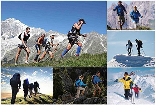 kenove Wanderstöcke, Faltbarer Trekkingstöcke, Leicht und Einstellbar Walking Stöcke für Outdoor Walking Trekking Klettern Schnee Bergsteigen,Ein Paar [ Neue Version] - 5