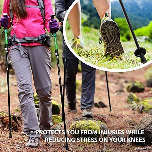 Terra Hiker Wanderstöcke, Faltbarer Trekkingstöcke, Leicht und Einstellbar Walking Stöcke, Ein Paar - 2