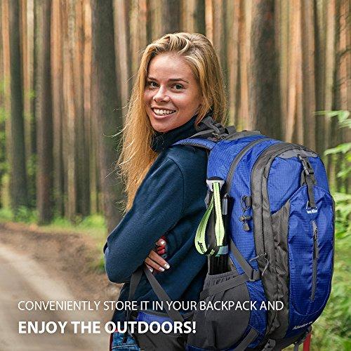 Terra Hiker Wanderstöcke, Faltbarer Trekkingstöcke, Leicht und Einstellbar Walking Stöcke, Ein Paar - 3
