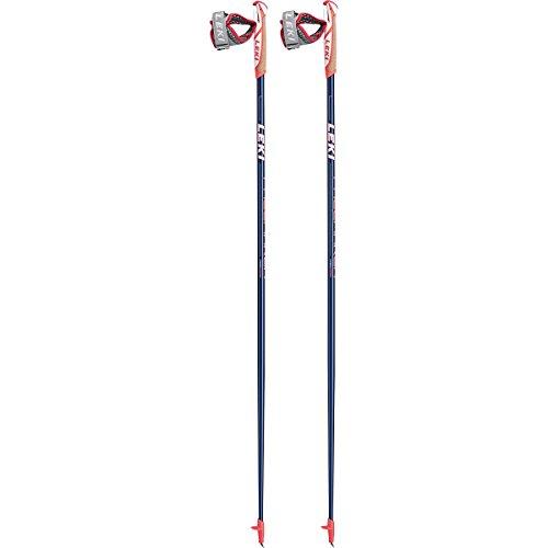 LEKI Pacemaker Nordic Walking Stock, Dark Blue Metalic/White/Neon Red, 110