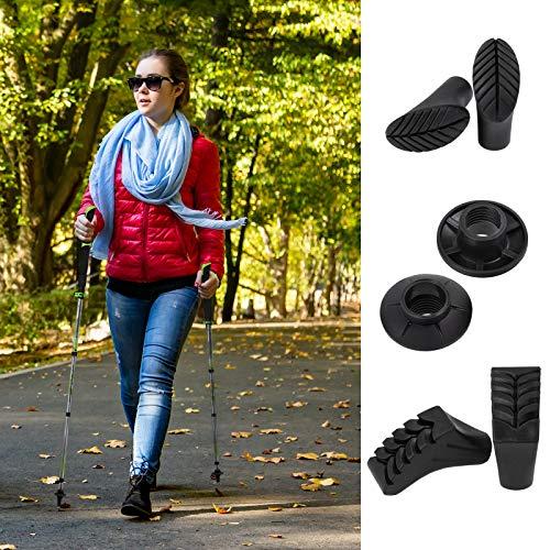 ALPIDEX Faltstöcke TIMOK Vario aus Carbon ausklickbare Handschlaufen verstellbar 105-125 cm ultraleicht 5-teilig Packmaß lediglich 39 cm Trailrunning Stöcke Trekkingstock faltbar - 7