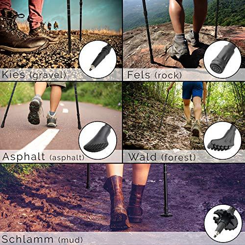 ATTRAC Nordic Walking Stöcke/Wanderstöcke *Partner-Paket* Classic und Lady Edition Teleskop Verstellbar Dämpfung inkl. App - 3