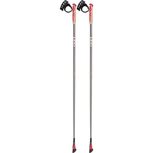LEKI Smart Carat Nordic Walking Stock, Mid Grey/White/Neon Red, 110
