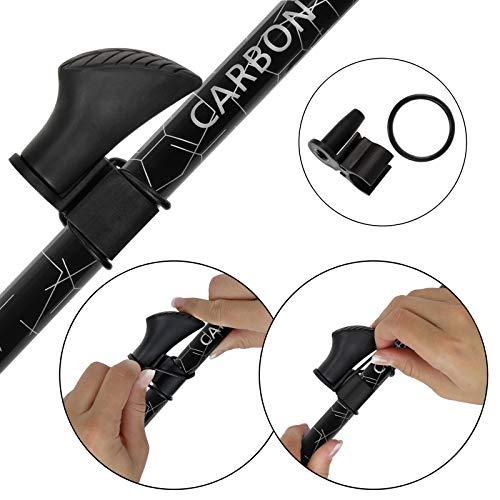 Superleichter Carbon Nordic Walking Stock Walker 5000 Premium Edition, Länge:120 cm - 4